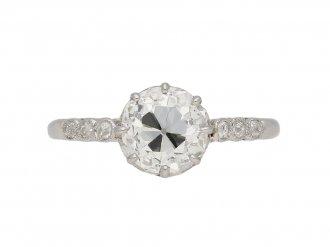 Belle Epoque old cut diamond ring berganza hatton garden