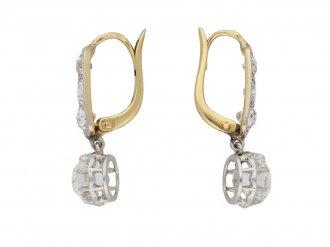 Belle Époque diamond drop earrings berganza hatton garden