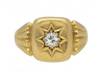 Victorian star set diamond ring berganza hatton garden