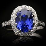 Burmese sapphire and diamond coronet cluster ring, circa 1920.