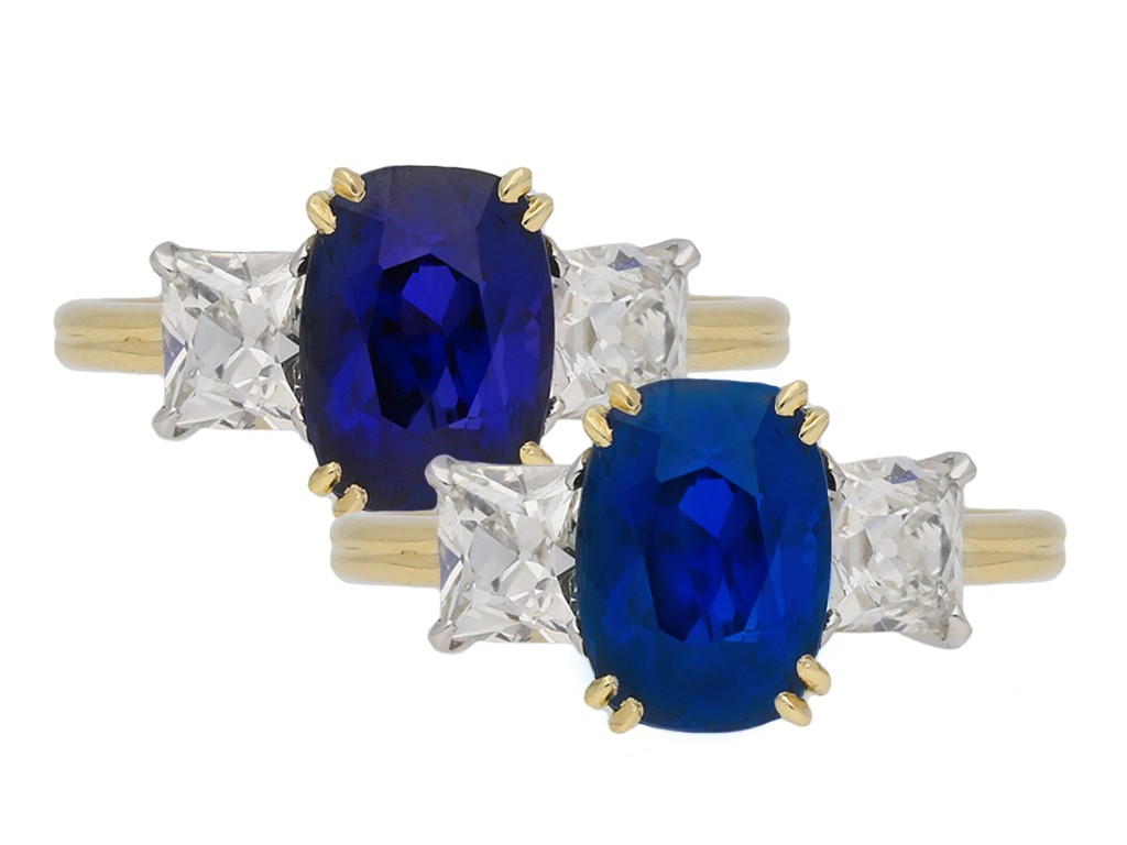 Burmese colour sapphire diamond ring berganza hatton garden