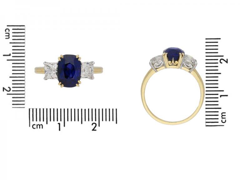 Burmese colour sapphire diamond ring berganza hatton garden
