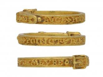 15th century engraved gold buckle ring berganza hatton garden