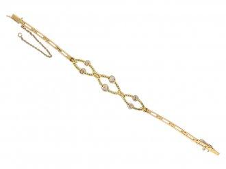 Edwardian diamond bracelet berganza hatton garden