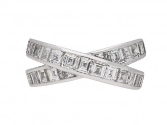 Chopard cross over diamond ring berganza hatton garden