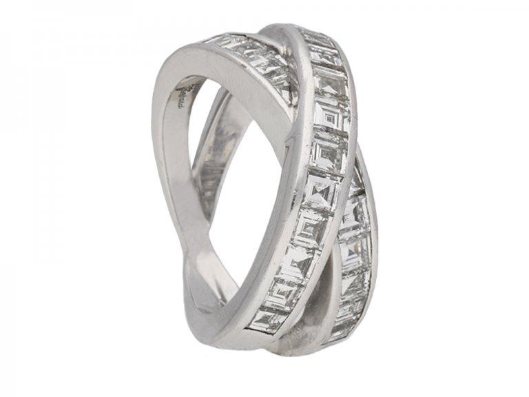 Chopard cross over diamond ring berganza hatton garden