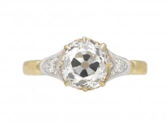 Edwardian old mine diamond ring berganza hatton garden