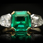 Art Deco Colombian emerald and diamond ring, circa 1930.