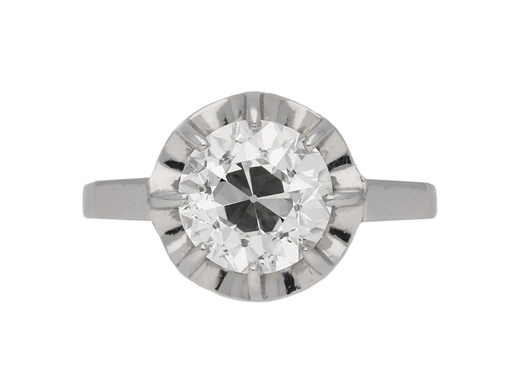 Art Deco diamond solitaire engagement ring berganza hatton garden