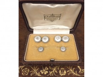 Antique diamond mother of pearl dress set berganza hatton garden