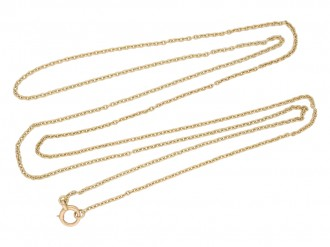Victorian yellow gold chain berganza hatton garden