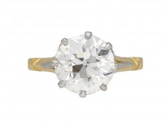 Edwardian old cut diamond solitaire ring berganza hatton garden