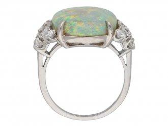 Vintage opal and diamond ring berganza hatton garden
