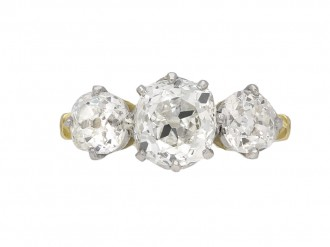 old mine diamond three stone ring berganza hatton garden