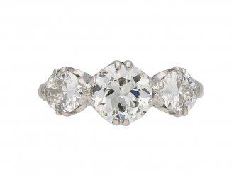 Vintage three stone diamond ring berganza hatton garden