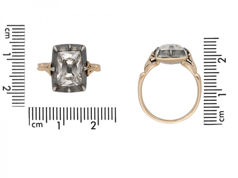 Georgian old mine solitaire diamond ring berganza hatton garden