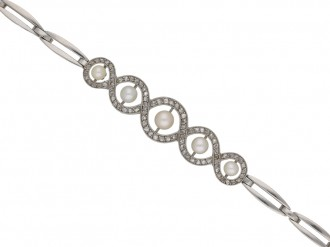 Edwardian diamond and pearl bracelet berganza hatton garden