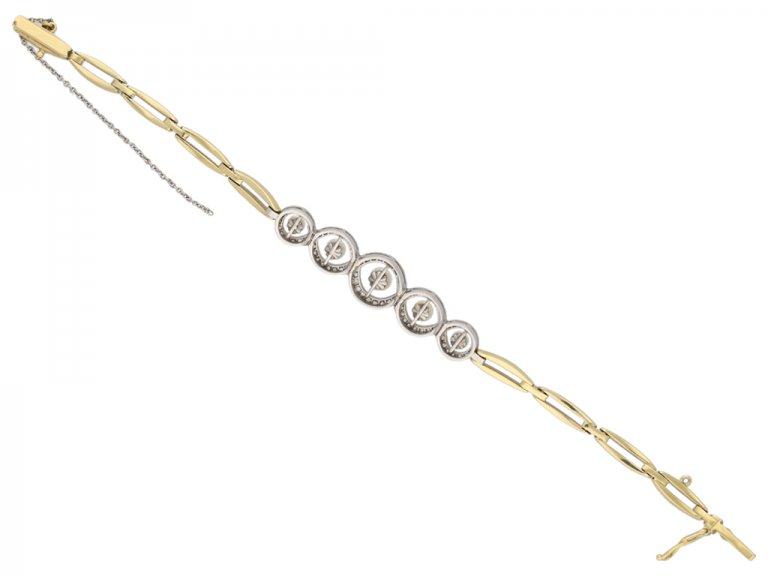 Edwardian diamond and pearl bracelet berganza hatton garden