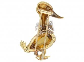 Citrine duck brooch Georges Lenfant berganza hatton garden