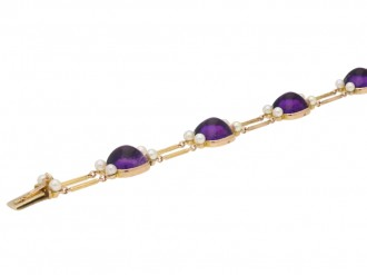Victorian amethyst and seed pearl bracelet berganza hatton garden