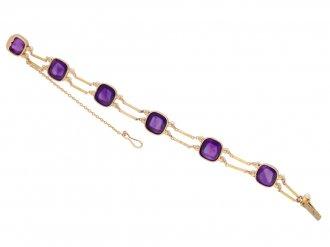 Victorian amethyst and seed pearl bracelet berganza hatton garden