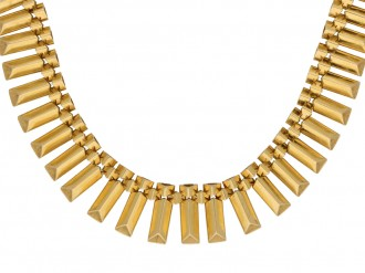 Vintage yellow gold necklace berganza hatton garden