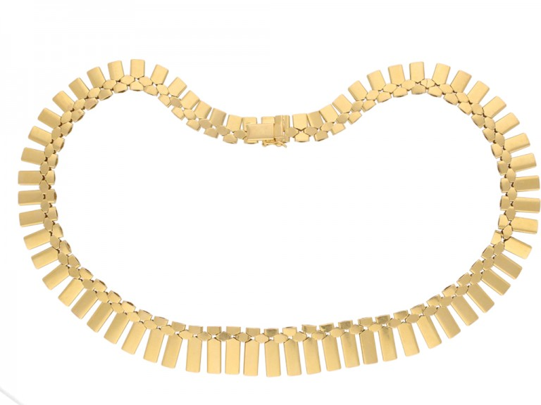 Vintage yellow gold necklace berganza hatton garden