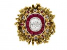 Vintage diamond and ruby ring by Sterlé berganza hatton garden
