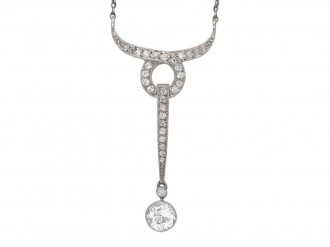 Antique diamond pendant berganza hatton garden