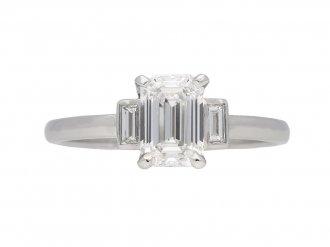 Vintage emerald cut diamond ring berganza hatton garden
