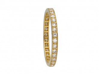 Diamond and yellow gold eternity ring berganza hatton garden
