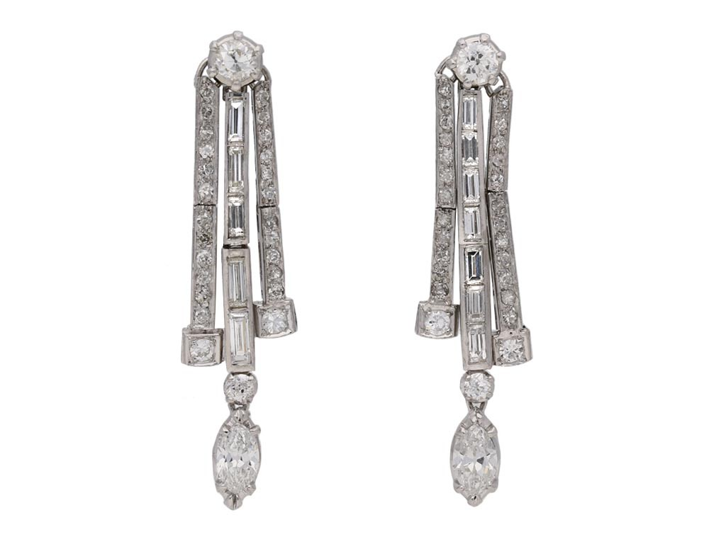 Diamond drop earrings berganza hatton garden