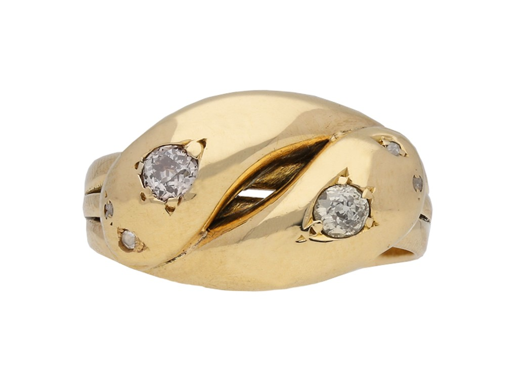 Victorian diamond snake ring berganza hatton garden