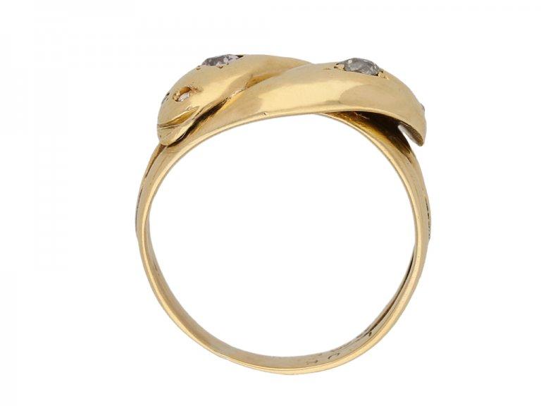 Victorian diamond snake ring berganza hatton garden
