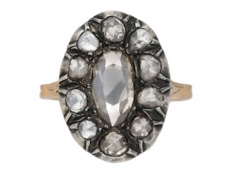 Georgian diamond coronet cluster ring berganza hatton garden