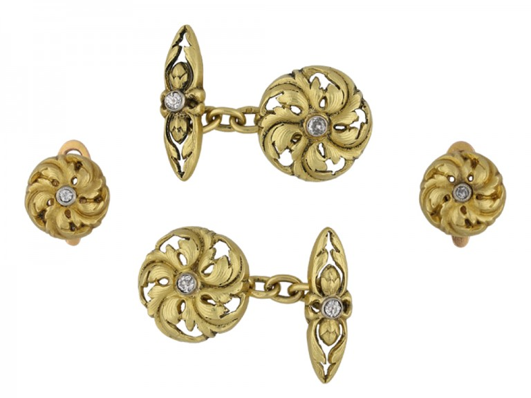 Art Nouveau diamond set dress set berganza hatton garden