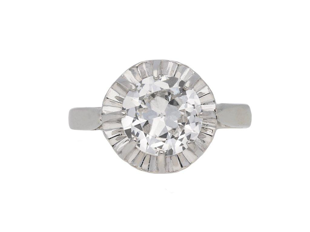 Art Deco solitaire diamond ring berganza hatton garden