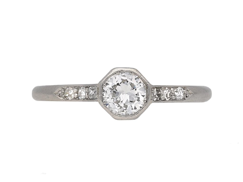 Alabaster & Wilson solitaire diamond ring berganza hatton garden
