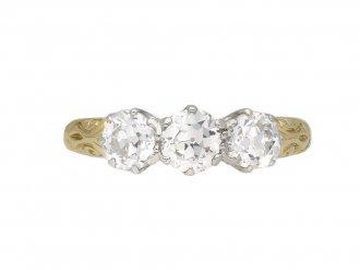 Edwardian diamond three stone ring berganza hatton garden