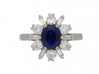 Sapphire and diamond ballerina ring berganza hatton garden