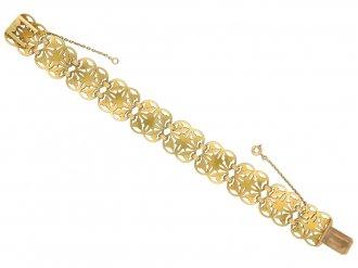 Gothic revival gold bracelet by Wiese berganza hatton garden