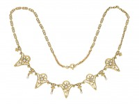 Art Nouveau diamond necklace berganza hatton garden