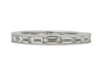 Vintage baguette cut diamond eternity ring berganza hatton garden
