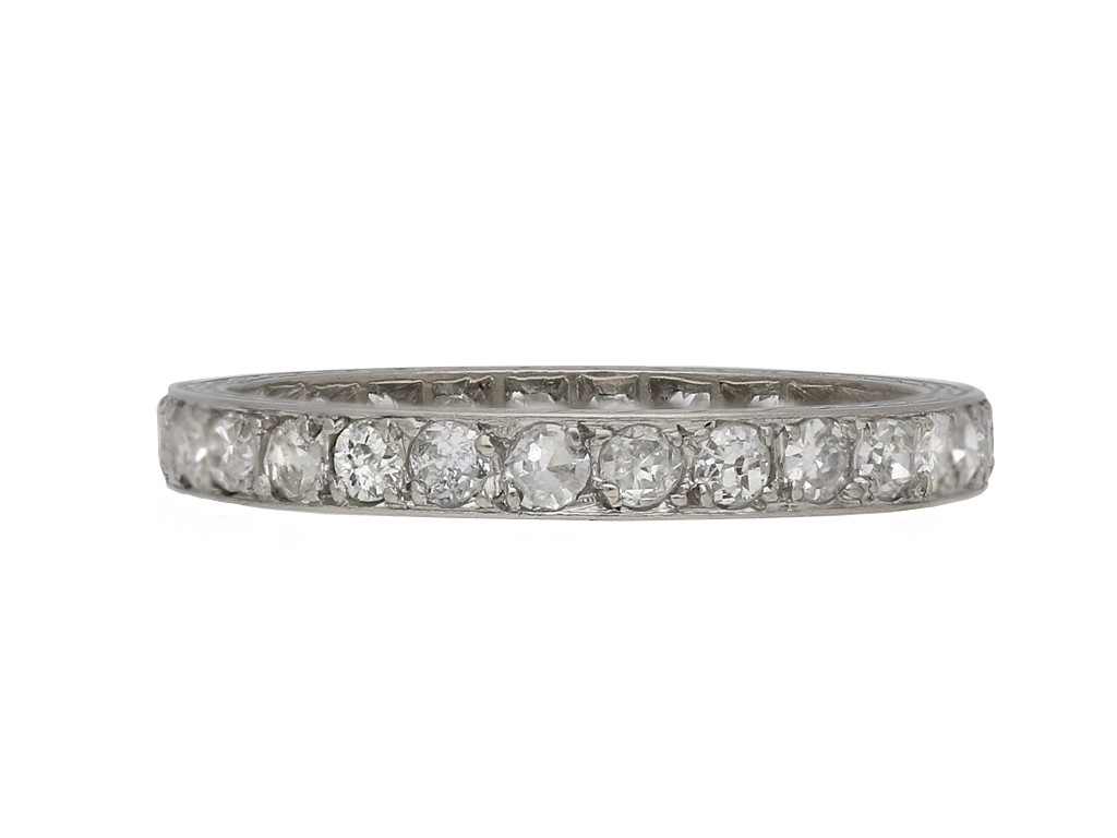 Diamond set eternity ring berganza hatton garden