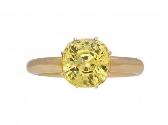 Ceylon yellow sapphire solitaire ring hatton garden berganza