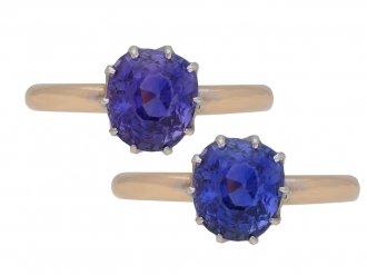 Vintage colour change sapphire ring berganza hatton garden