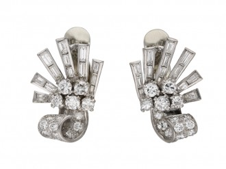 Vintage diamond earclips berganza hatton garden