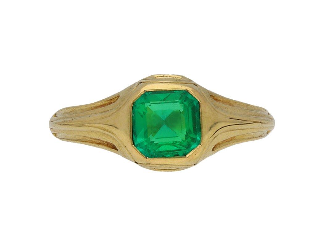 Victorian emerald solitaire ring berganza hatton garden