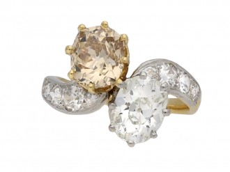 Edwardian fancy coloured diamond ring berganza hatton gardenEdwardian fancy coloured diamond ring berganza hatton garden