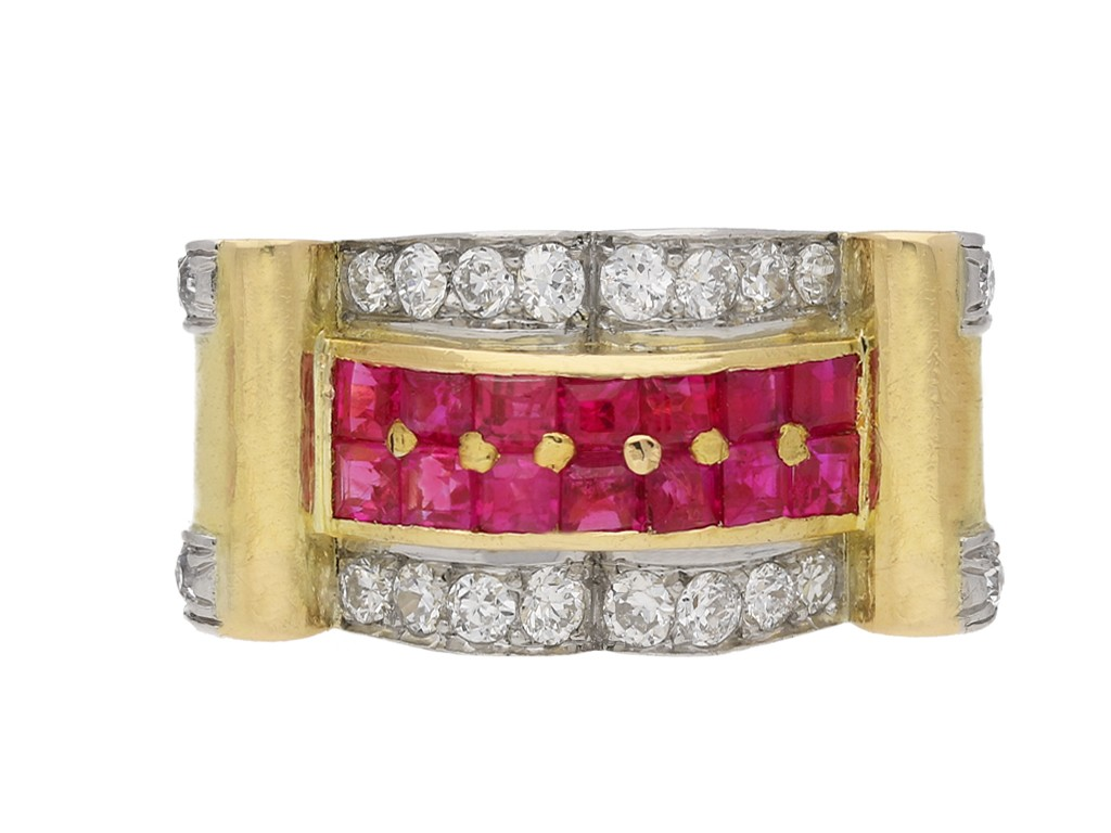 Boucheron ruby and diamond cocktail ring berganza hatton garden